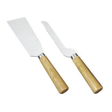 Cilio - Formaggio - zestaw 2 noży do sera Sicilia - dębowe uchwyty