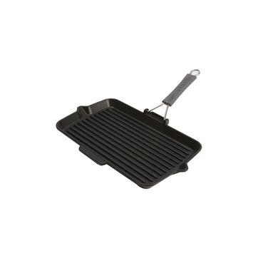 Staub - patelnia grillowa z silikonową rączką - 34 x 21 cm
