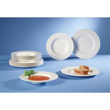 Villeroy & Boch - Wonderful World White - zestaw porcelany obiadowej - 12 elementów