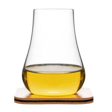 Sagaform - Club - zestaw do degustacji whisky - 2 szklanki z podkładkam; pojemność: 150 ml