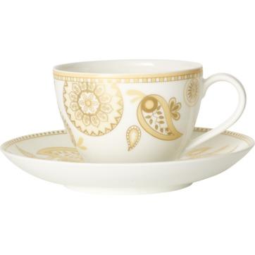 Villeroy & Boch - Anmut Samarah - filiżanka do kawy ze spodkiem - pojemność: 0,2 l