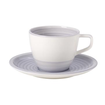 Villeroy & Boch - Artesano Nature Bleu - filiżanka do kawy ze spodkiem - pojemność: 0,25 l