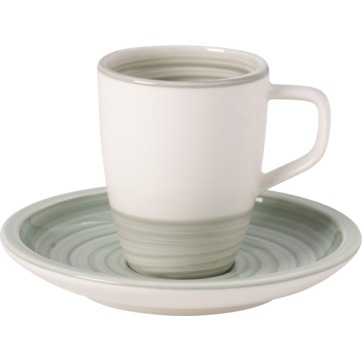 Villeroy & Boch - Artesano Nature Vert - filiżanka do espresso ze spodkiem - pojemność: 0,1 l