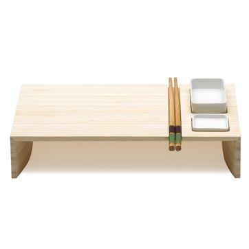 Legnoart - Kobe - zestaw do sushi - 2 miseczki, pałeczki i podstawka