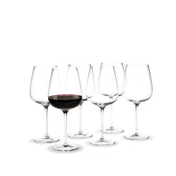 Holmegaard - Bouquet - 6 kieliszków do czerwonego wina - pojemność: 0,62 l