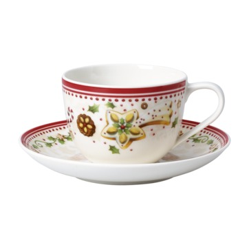 Villeroy & Boch - Winter Bakery Delight - filiżanka do kawy ze spodkiem - pojemność: 0,23 l