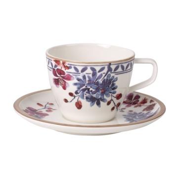 Villeroy & Boch - Artesano Provencal Lavender - filiżanka do kawy ze spodkiem - pojemność: 0,25 l