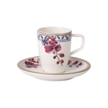 Villeroy & Boch - Artesano Provencal Lavender - filiżanka do espresso ze spodkiem - pojemność: 0,1 l