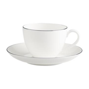Villeroy & Boch - Anmut Platinum No.1 - filiżanka do kawy ze spodkiem - pojemność: 0,2 l