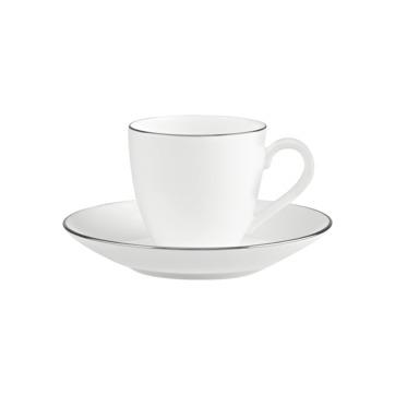 Villeroy & Boch - Anmut Platinum No.1 - filiżanka do espresso ze spodkiem - pojemność: 0,1 l