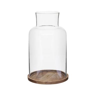 Sagaform - Nature - dwuczęściowy świecznik - wysokość: 21 cm