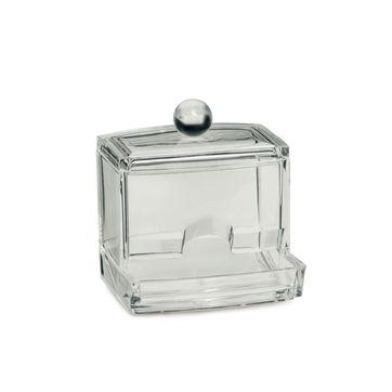 Kela - Safira - pojemnik na patyczki kosmetyczne - wymiary: 9 x 7 x 9,5 cm