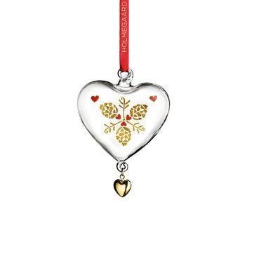 Holmegaard - Christmas - zawieszki serca - wysokość: 10 cm