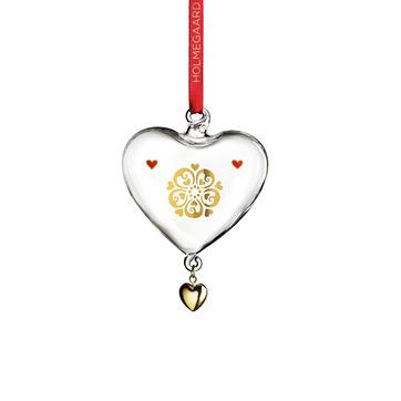 Holmegaard - Christmas - zawieszka serce - wysokość: 10 cm; ciemiernik