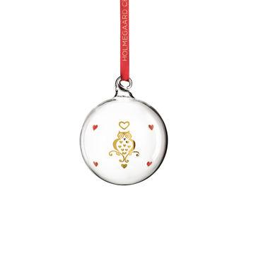 Holmegaard - Christmas - bombka - wysokość: 7 cm; sowa