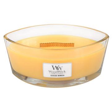 WoodWick - Seaside Mimosa - świeca zapachowa - szampan z cytrusami - czas palenia: do 60 godzin