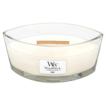 WoodWick - Linen - świeca zapachowa - świeżo wyprana pościel - czas palenia: do 60 godzin