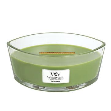 WoodWick - Evergreen - świeca zapachowa - gałęzie jodły - czas palenia: do 60 godzin