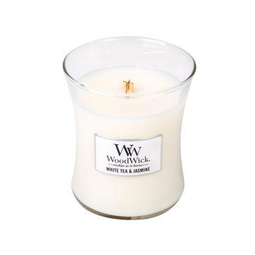 WoodWick - White Tea & Jasmine - świeca zapachowa - biała herbata z jaśminem - czas palenia: do 100 godzin