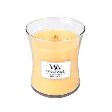 WoodWick - Honeysuckle - świeca zapachowa - kwiaty wiciokrzewu - czas palenia: do 100 godzin