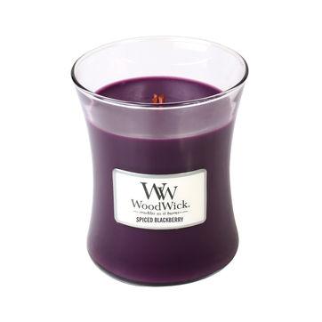 WoodWick - Spiced Blackberry - świeca zapachowa - ciastko waniliowe z jeżyną - czas palenia: do 100 godzin