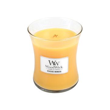 WoodWick - Seaside Mimosa - świeca zapachowa - szampan z cytrusami - czas palenia: do 100 godzin