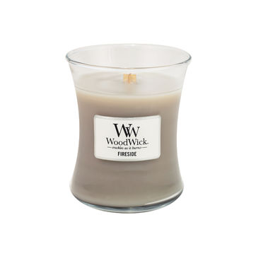 WoodWick - Fireside - świeca zapachowa - ambra, wetiwer i piżmo - czas palenia: do 65 godzin