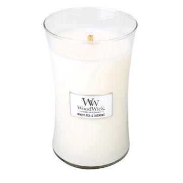 WoodWick - White Tea & Jasmine - świeca zapachowa - biała herbata z jaśminem - czas palenia: do 175 godzin