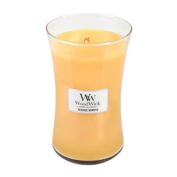 WoodWick - Seaside Mimosa - świeca zapachowa - szampan z cytrusami - czas palenia: do 120 godzin