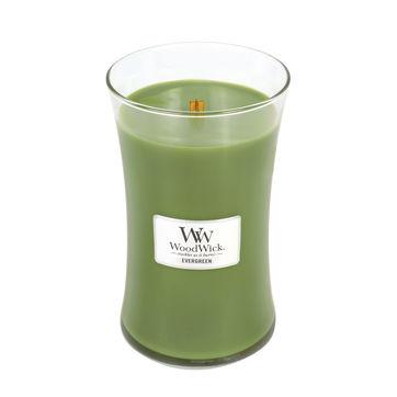 WoodWick - Evergreen - świeca zapachowa - gałęzie jodły - czas palenia: do 175 godzin