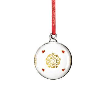 Holmegaard - Christmas - bombka - wysokość: 7 cm; ciemiernik