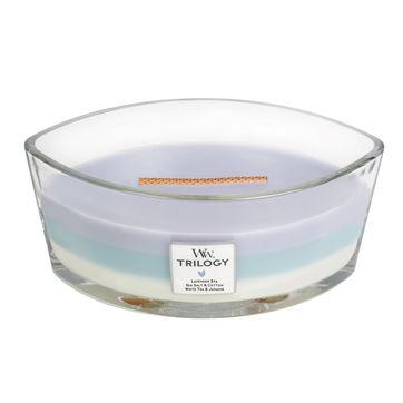 WoodWick - Calming Retreat - potrójna świeca zapachowa - spokój ducha - czas palenia: do 40 godzin