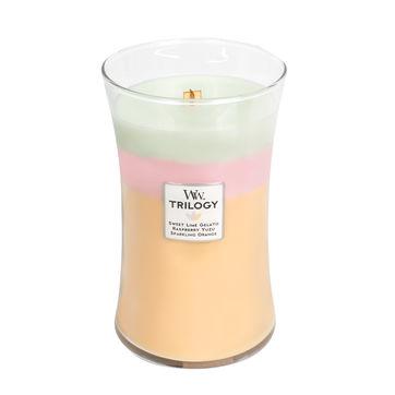 WoodWick - Summer Sweets - potrójne świece zapachowe - kolorowe słodycze