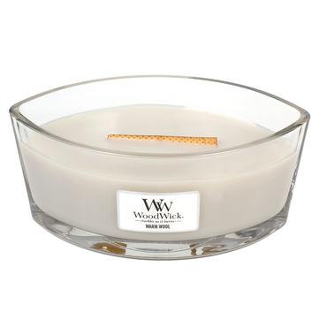 WoodWick - Warm Wool - świeca zapachowa - wełna i dzikie kwiaty - czas palenia: do 60 godzin