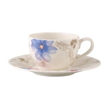 Villeroy & Boch - Mariefleur Gris Basic - filiżanka do kawy ze spodkiem - pojemność: 0,25 l