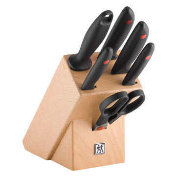 Zwilling - TWIN Point - blok - 4 noże, ostrzałka i nożyce