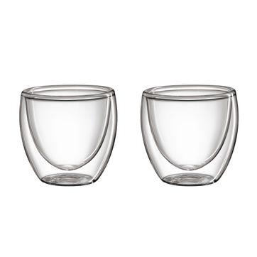 Cilio - 2 szklanki do espresso o podwójnych ściankach - pojemność: 0,08 l
