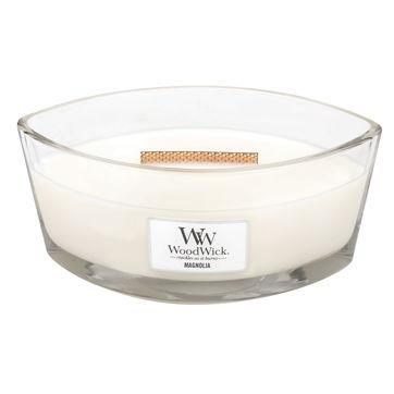 WoodWick - Magnolia - świeca zapachowa - kwiaty magnolii - czas palenia: do 60 godzin