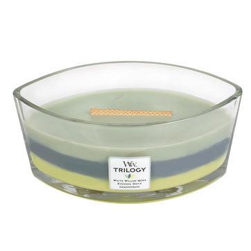 WoodWick - Woodland Shade - potrójna świeca zapachowa - nieodkryta puszcza - czas palenia: do 60 godzin