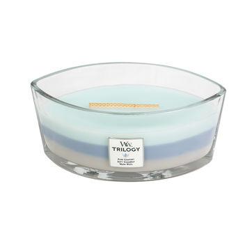 WoodWick - Woven Comforts - potrójna świeca zapachowa - komfortowe tkaniny - czas palenia: do 60 godzin