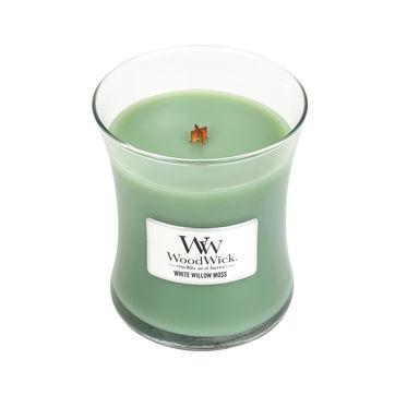 WoodWick - White Willow Moss - świeca zapachowa - wierzbowy las - czas palenia: do 100 godzin