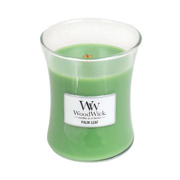 WoodWick - Palm Leaf - świeca zapachowa - tropikalna zieleń - czas palenia: do 100 godzin