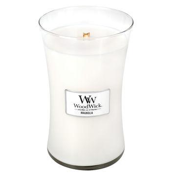 WoodWick - Magnolia - świece zapachowe - kwiaty magnolii