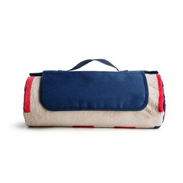 Sagaform - Outdoor - nieprzemakalny koc piknikowy Nautic - wymiary: 180 x 130 cm