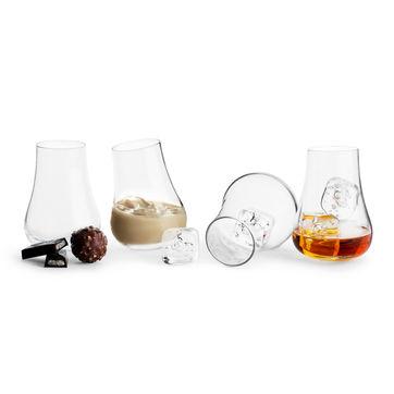 Sagaform - Club - 4 bujające się szklanki - pojemność: 0,15 l