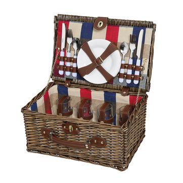 Cilio - Lenno - kosz piknikowy z wyposażeniem dla 4 osób - wymiary: 42 x 28 x 20 cm