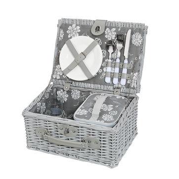 Cilio - Brebbia - kosz piknikowy z wyposażeniem dla 2 osób - wymiary: 37 x 27 x 18 cm