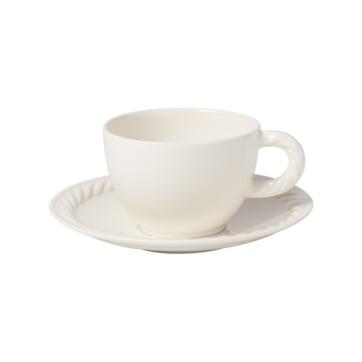 Villeroy & Boch - Montauk - filiżanka do kawy ze spodkiem - pojemność: 0,35 l