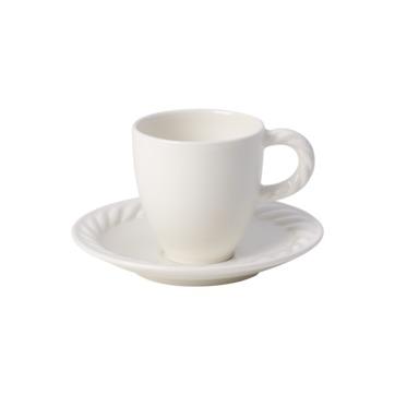 Villeroy & Boch - Montauk - filiżanka do espresso ze spodkiem - pojemność: 0,1 l