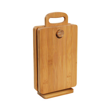 Zassenhaus - Eco Line - 4 deski śniadaniowe na podstawce - wymiary deski: 26 x 17 x 0,9 cm